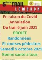 Dimanche 31 mai 2020 Trail sur les traces de Gargantua